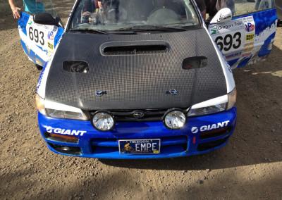 Subaru STI: Rally Car Hood