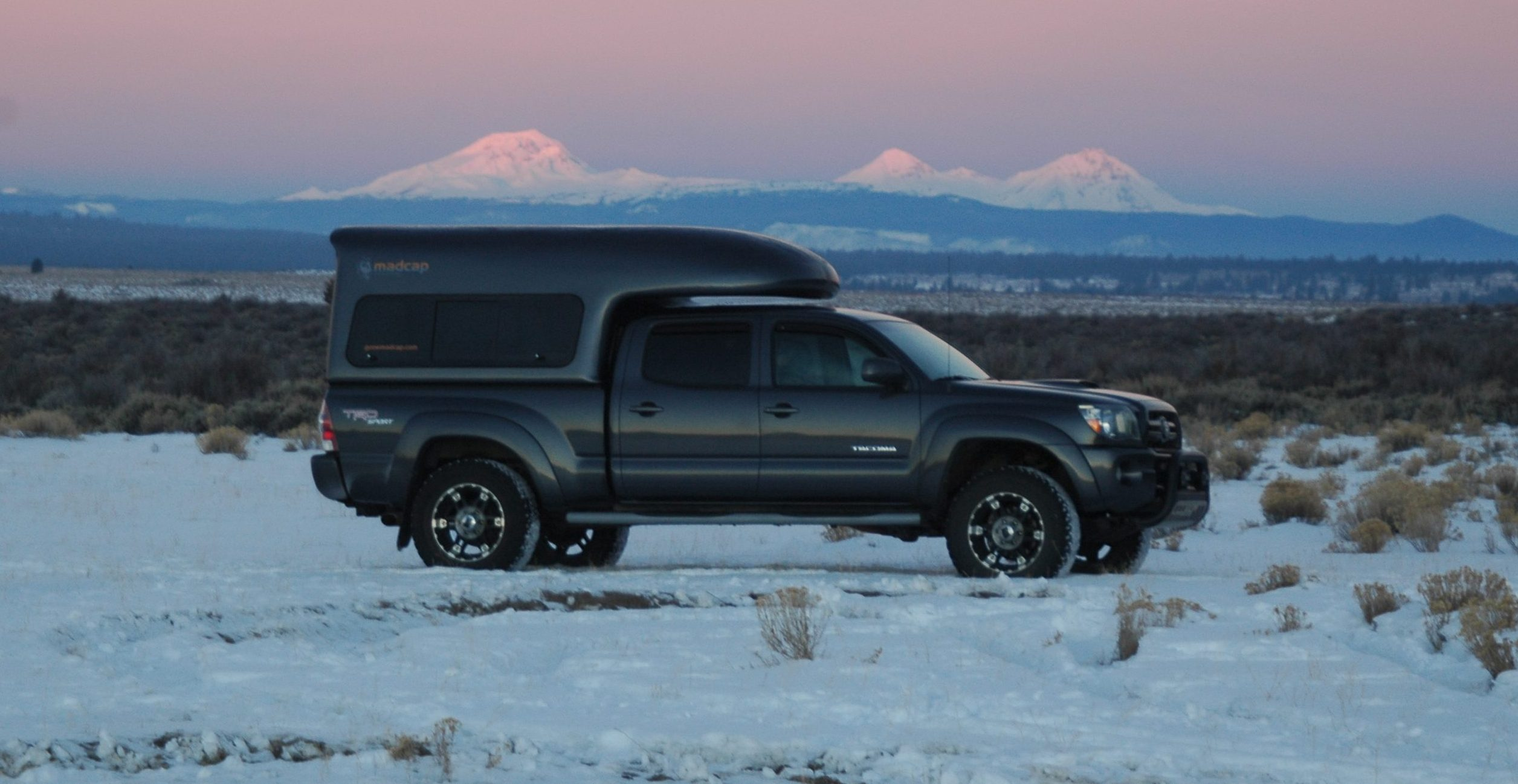 madcap Adventure Campers Toyota Tacoma composite approach