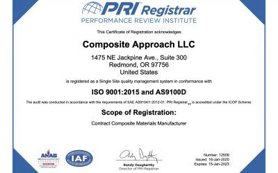Composite Approach Receives Accreditation for ISO 9001:2015 and AS9100D